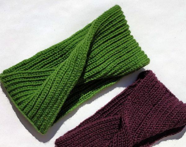 bandeau vert idéal pour l'hiver, apporte une protection.