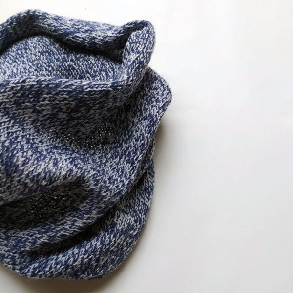Tour de cou, accesoire pour l'hiver crée par Charlotte Tricote.