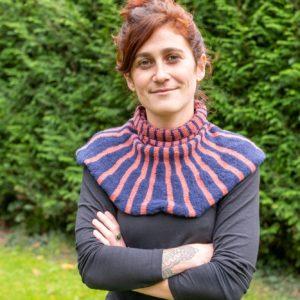 col plastron tricoté en France
