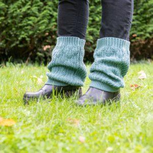 guêtres tricotées à Lille par la tricoteuse Charlotte Tricote.