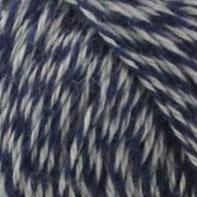 bleu chiné mélange laine