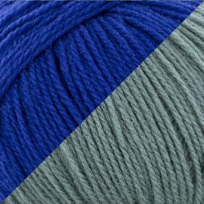 bleu électrique - bleu vert d'eau